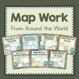 Map Work Around the World- Making Detailed Maps- Growing Bundle