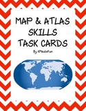 Map and Atlas Skills Task Cards by KMediaFun