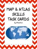 Map and Atlas Skills Task Cards by KMediaFun