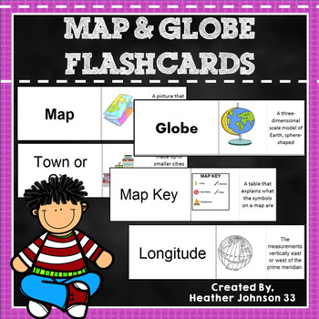 Map and Globe Flash Cards