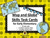 Map and Globe Skills Task Cards for Early Elementary