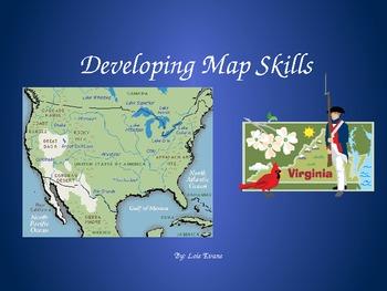 Map and Globe Skills VA Standards