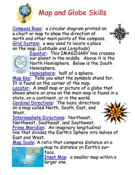 Map and Globe Skills Vocabulary
