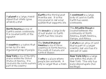 Map and Globe Themed Common and Proper Nouns