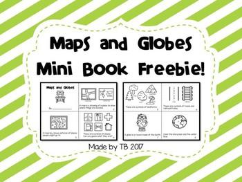 Map and Globe mini Book Freebie