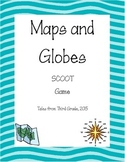 Map and Globes Skills Scoot Game- Updated!