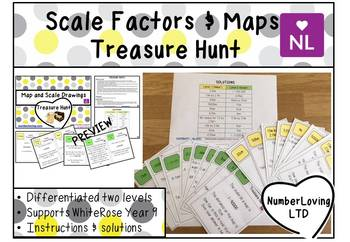 Map and Scale Drawings (Scavenger Hunt)