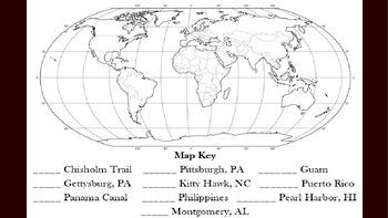 Map for Santa's Sleigh Test Run_ Georgia Social Studies Historical Map Locations