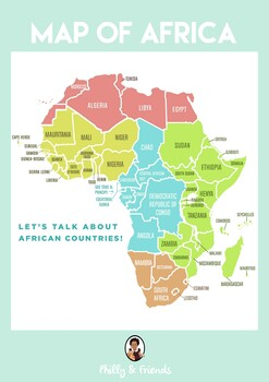 Map of Africa Activity Set
