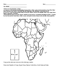 Map of Africa Activity with leveled questions