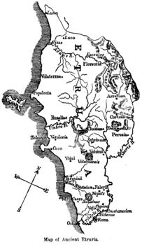 Map of Ancient Etruria
