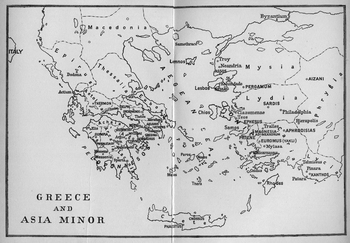 Map of Ancient Greece and Asia Minor