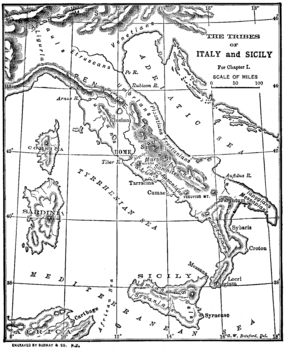 Map of Ancient Italy with Tribes Labeled