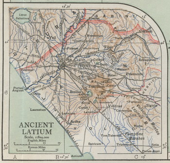 Map of Ancient Latium