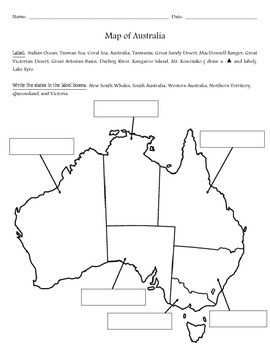 Map of Australia #2