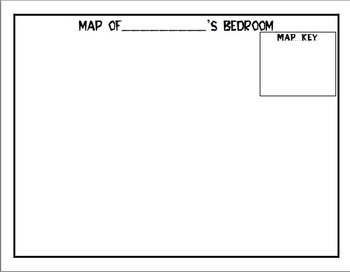 Map of Bedroom with Map Key