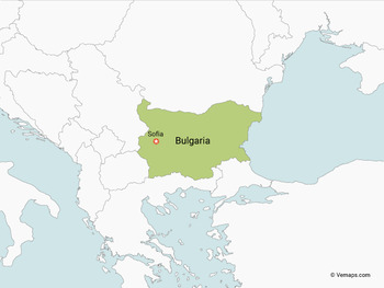 Map of Bulgaria with Neighbouring Countries
