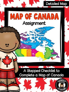 Map of Canada Assignment - Detailed Map