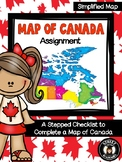 Map of Canada Assignment - Simplified Map