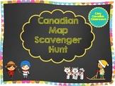Map of Canada - Scavenger Hunt