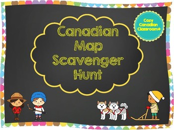 Map of Canada - Scavenger Hunt