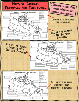 Canada Map Territories.Map Of Canada S Provinces And Territories For Students To Label And
