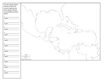 Map of Central America: Cornell Notes