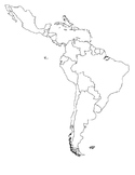 Map of Central and Latin America