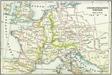 Map of Charlemagne's Empire