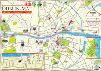 Map of Dublin - Giving Directions practice