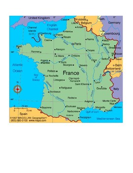 Clear Map Of France.Map Of France