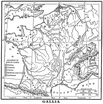 Map of Gaul / Ancient France