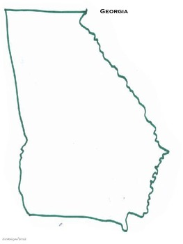 Map of Georgia and the United States