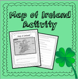 Map of Ireland - St. Patrick's Day Activity!