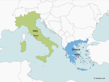Map Of Italy And Greece Map of Italy and Greece by Vemaps   Teachers Pay Teachers