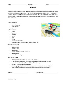 Map of Me- Project Based Geography and Mapping Lesson