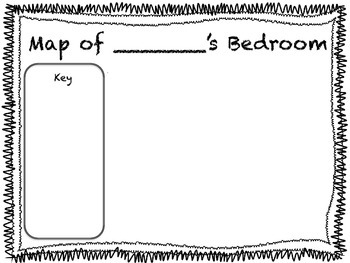 Map of My Bedroom by Little Owl\'s Teacher Treats | TpT