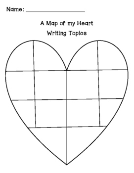 Map of My Writing Heart