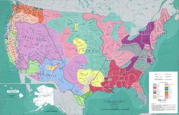 Find A Map Of The United States.Map Of Native American Tribes In United States From Smithsonian
