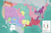 Map of Native American Tribes in United States from Smithsonian
