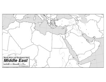 Map of North Africa and Western Asia by Mark Owen Lewis | TpT