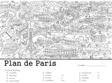 Map of Paris, Scavenger Hunt Activity