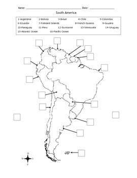 Map of South America MOD