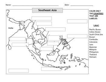 Map of Southeast Asia #2