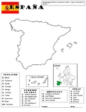 Map of Spain - Mapa de Espana