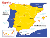 Map of Spain (color)