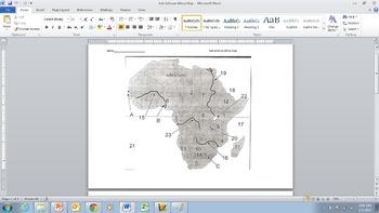 Map of Sub Saharan Africa
