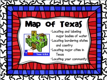 Map of Texas: Reading and Labeling a Map