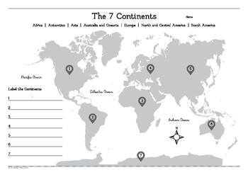 photograph regarding 7 Continents Printable named Continents Worksheet Lecturers Pay out Lecturers