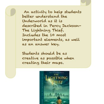 Draw a Map of The Underworld- Percy Jackson and The Lightning Thief